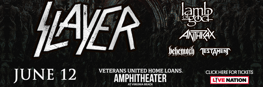 Slayer with Lamb of God, Anthrax, Behemoth, and Testament