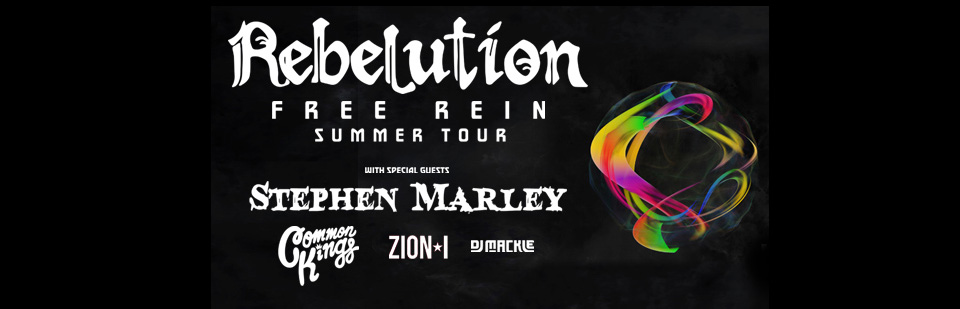 Rebelution with Stephen Marley, Common Kings, Zion I and DJ Mackle