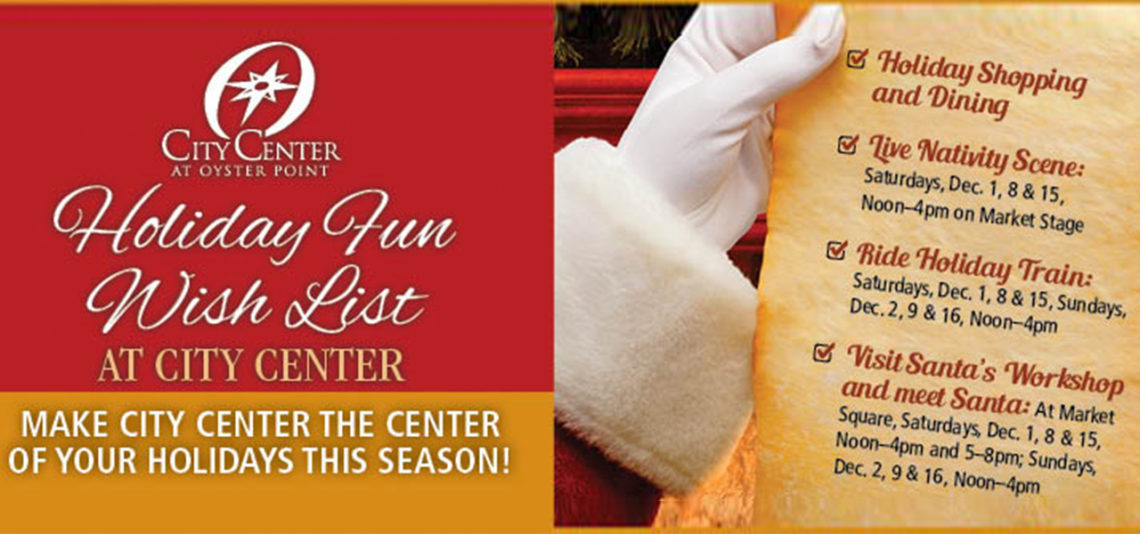 Holiday Fun at City Center at Oyster Point