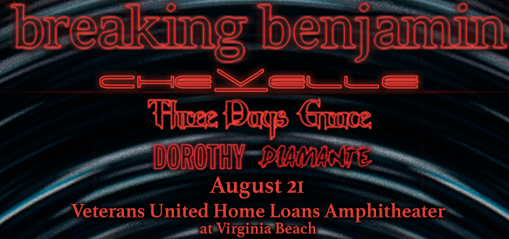 breaking benjamin with Chevelle and Three Days Grace