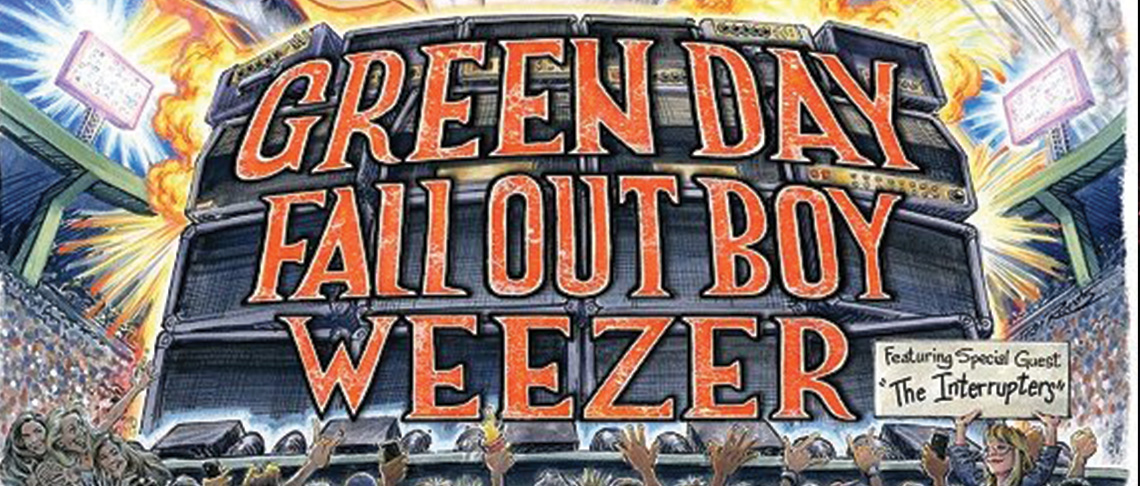 The Hella Mega Tour: Green Day / Fall Out Boy / Weezer featuring special guest The Interrupters