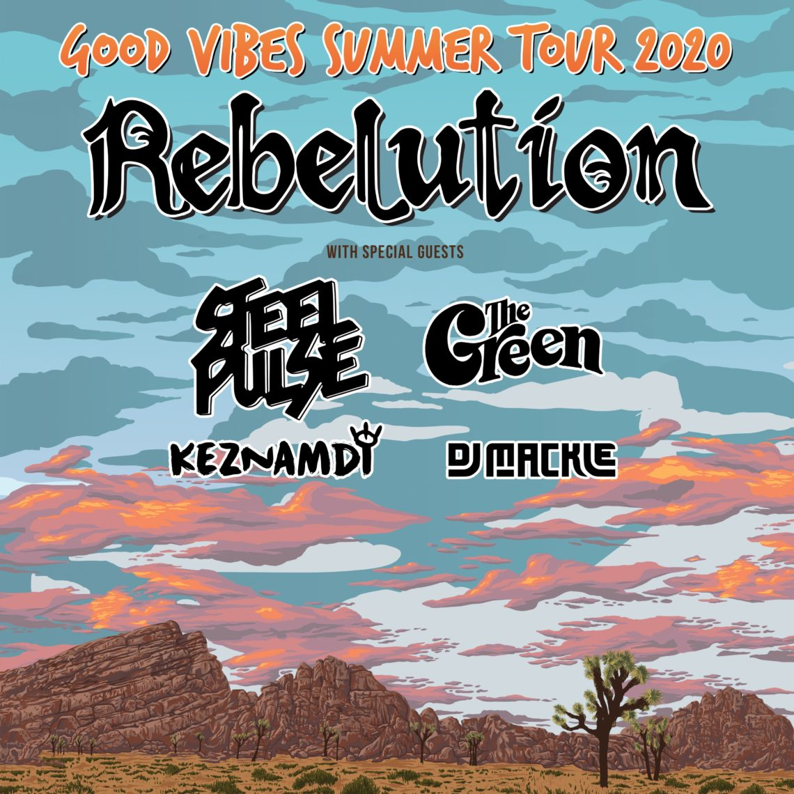 Rebelution w/ Steel Pulse, The Green, Keznamdi, and DJ Mackle