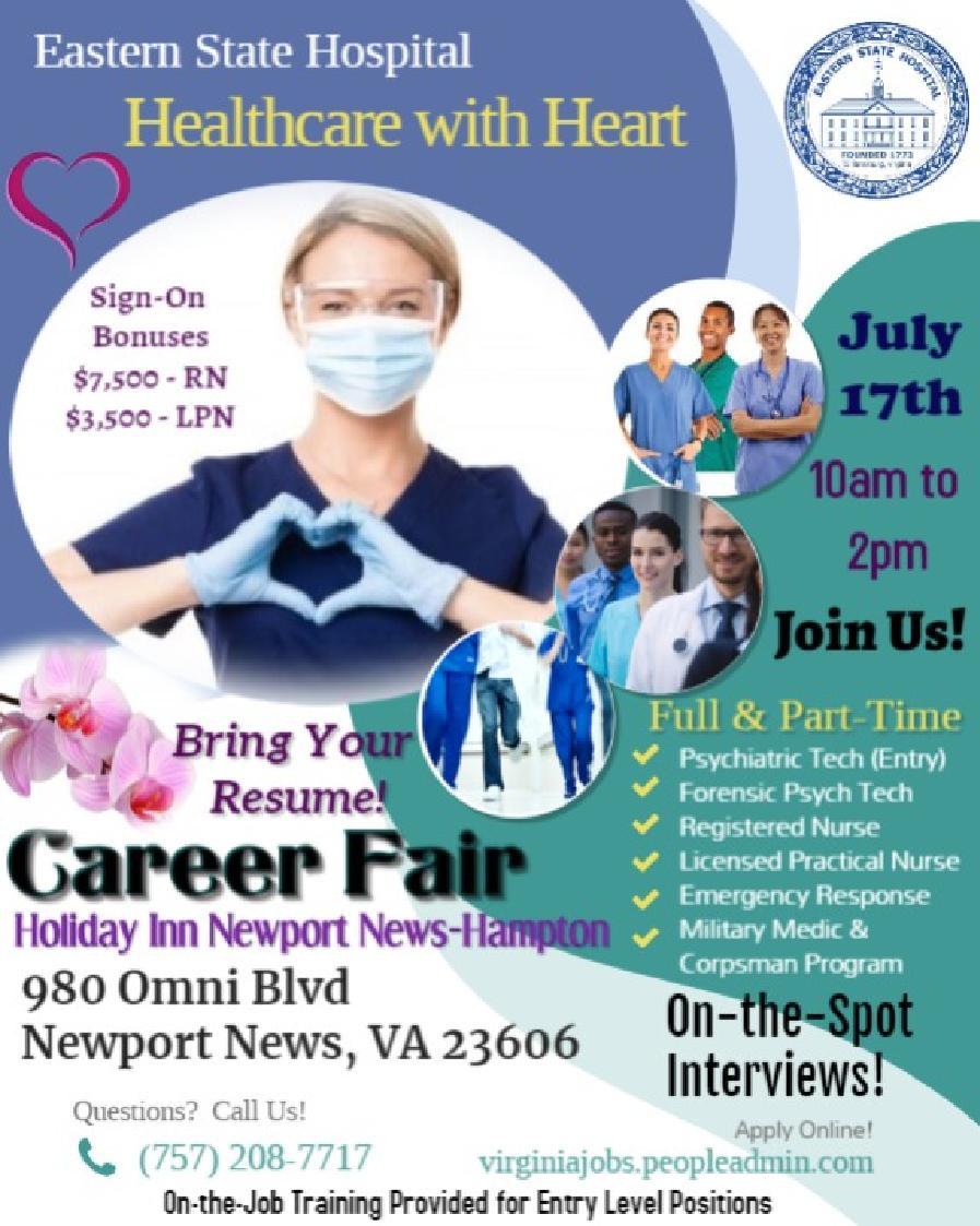 Eastern State Hospital's Career Fair